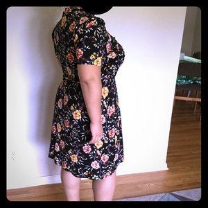 ASOS Curve, Mandarin collar dress, worn once
